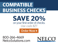 Save 20% on your first order of checks. Use code code BZ1